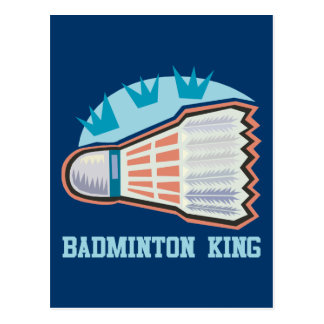 Badminton King Postcard