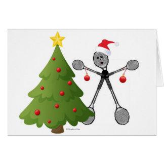 Badminton Merry Christmas Card