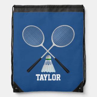 Badminton Name Customize Drawstring Bag