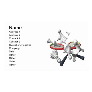 Badminton Pack Of Standard Business Cards