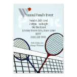 Badminton Party / Picnic 13 Cm X 18 Cm Invitation Card