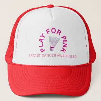 Badminton Play for Breast Cancer Awareness Hat