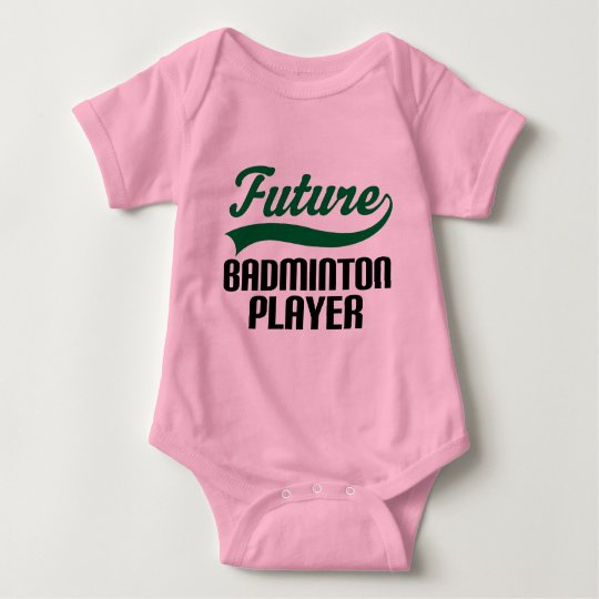 Badminton Player (Future) Baby Bodysuit