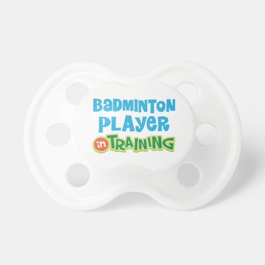 Badminton Player In Training Baby Pacifier Soother