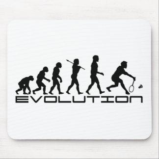 Badminton Player Racquet Sport Evolution Art Mouse Mat