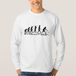 Badminton Player Racquet Sport Evolution Art T-Shirt