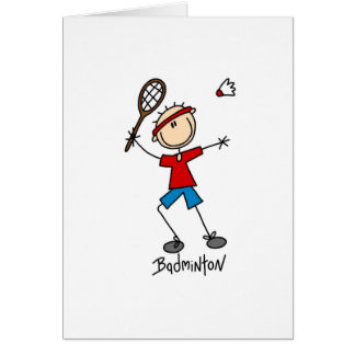 Badminton Player T-shirts and Gifts Greeting Card