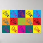 Badminton Pop Art Poster