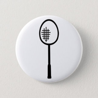 Badminton racket 6 cm round badge