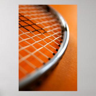 Badminton Racket Poster
