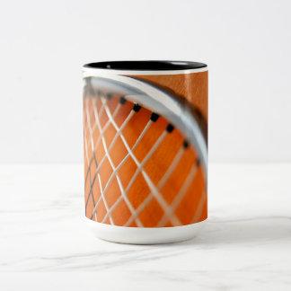 Badminton Racket Two-Tone Coffee Mug