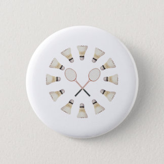 Badminton Rackets 6 Cm Round Badge