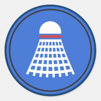 Badminton Round Sticker