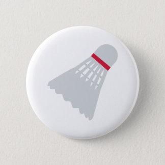 Badminton Shuttlecock 6 Cm Round Badge