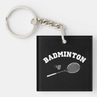 badminton Single-Sided square acrylic key ring