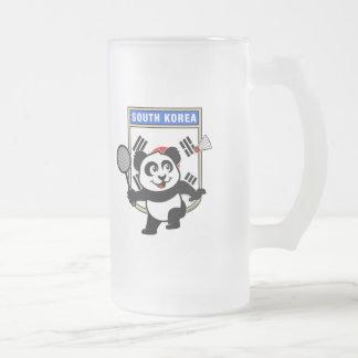 Badminton South Korea Panda Frosted Glass Beer Mug