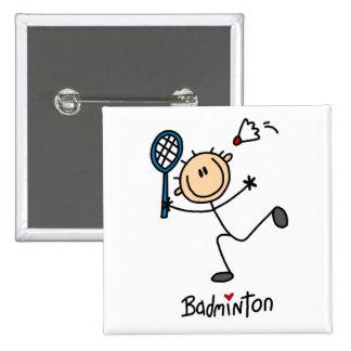 Badminton Stick Figure Button
