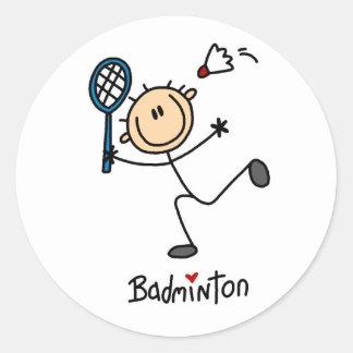 Badminton Stick Figure Stickers