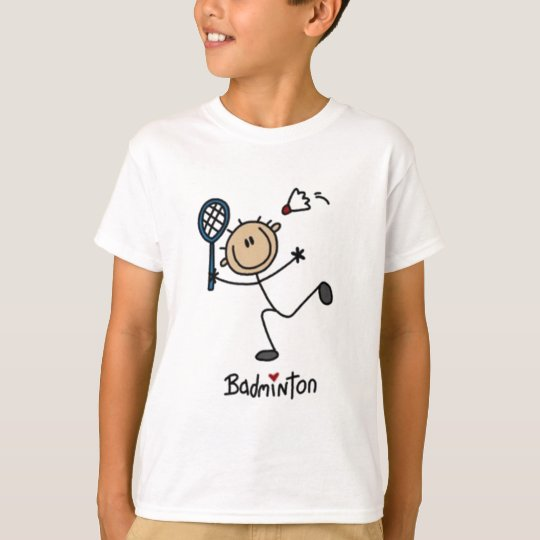 Badminton Stick Figure T-Shirt