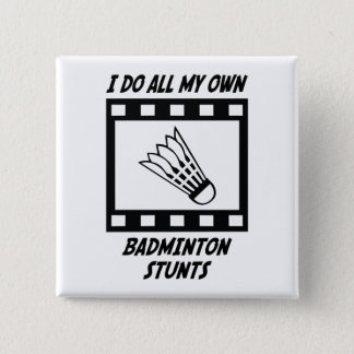 Badminton Stunts 15 Cm Square Badge