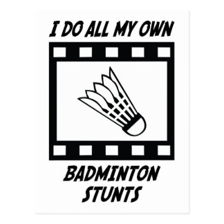 Badminton Stunts Postcard