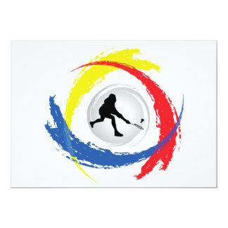 Badminton Tricolor Emblem 13 Cm X 18 Cm Invitation Card