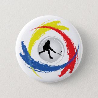 Badminton Tricolor Emblem 6 Cm Round Badge