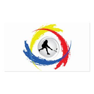 Badminton Tricolor Emblem Pack Of Standard Business Cards