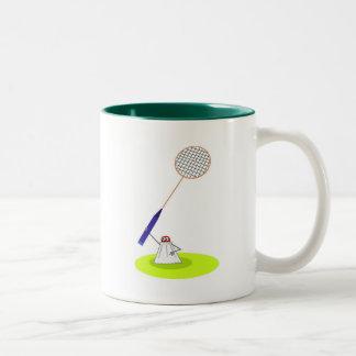 Badminton Two-Tone Coffee Mug