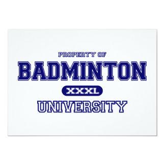 Badminton University 13 Cm X 18 Cm Invitation Card