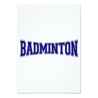 Badminton University Style 13 Cm X 18 Cm Invitation Card