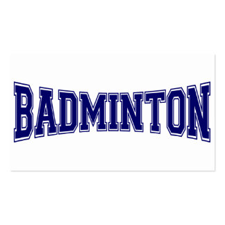 Badminton University Style Pack Of Standard Business Cards