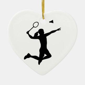 Badminton woman girl christmas ornament