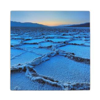 Badwater dusk, Death Valley, California Wood Coaster