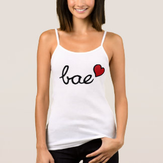 Bae baby love text with red heart tank top