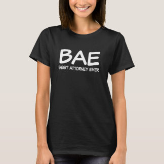 BAE Best Attorney Ever Funny saying womens shirt