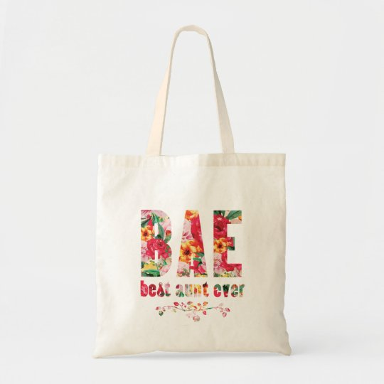 Bae best aunt ever tote bag
