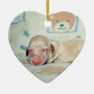 Bae Newborn-Lovebugdoxies puppy keepsake Ceramic Heart Decoration