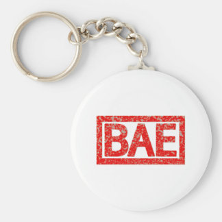 Bae Stamp Basic Round Button Key Ring