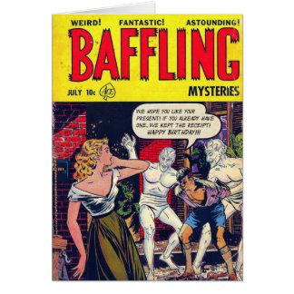 """""""Baffling Mystery"""" Birthday Card"""
