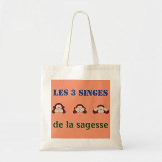 bag 3 monkeys of wisdom