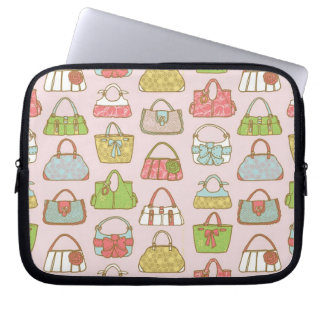 Bag-a-Holic (Pink) Laptop Computer Sleeves