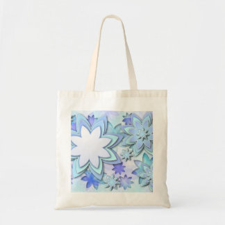 Bag abstract lotus flowers