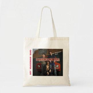 BAG- BEV WASSERMAN BAND STONE WASH RED CD COVER TOTE BAG