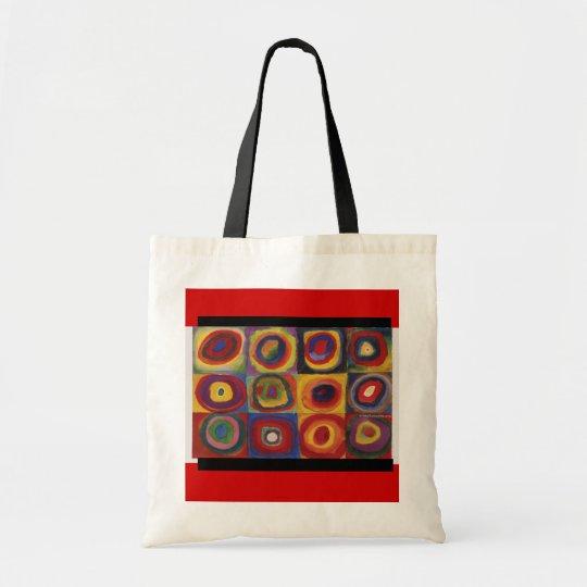 Bag-Classic Art-Kandinsky-Concentric Circles & Sq Tote Bag