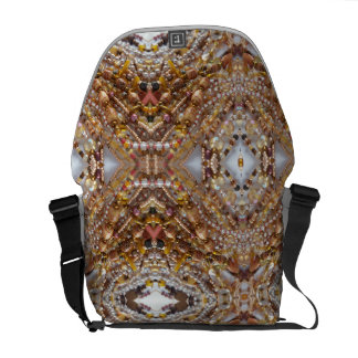 Bag- Earth Tones Bead Print Courier Bag