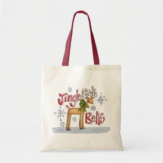Bag For Life Toat Bag - Jingle Bells Reindeer