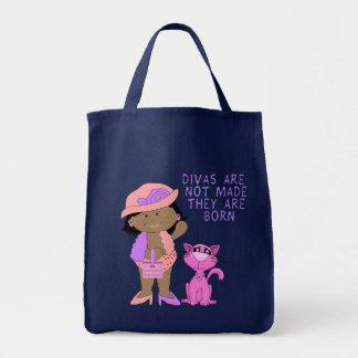 Bag Kid's Girls Diva Girl Cat Tote Bags