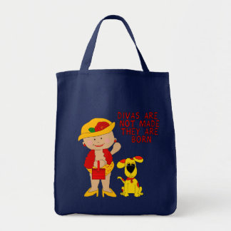 Bag Kid's Girls Diva Girl Dog Canvas Bags