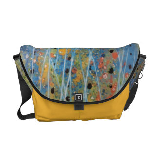 Bag - Messenger with handpainted surreal flowers Courier Bags
